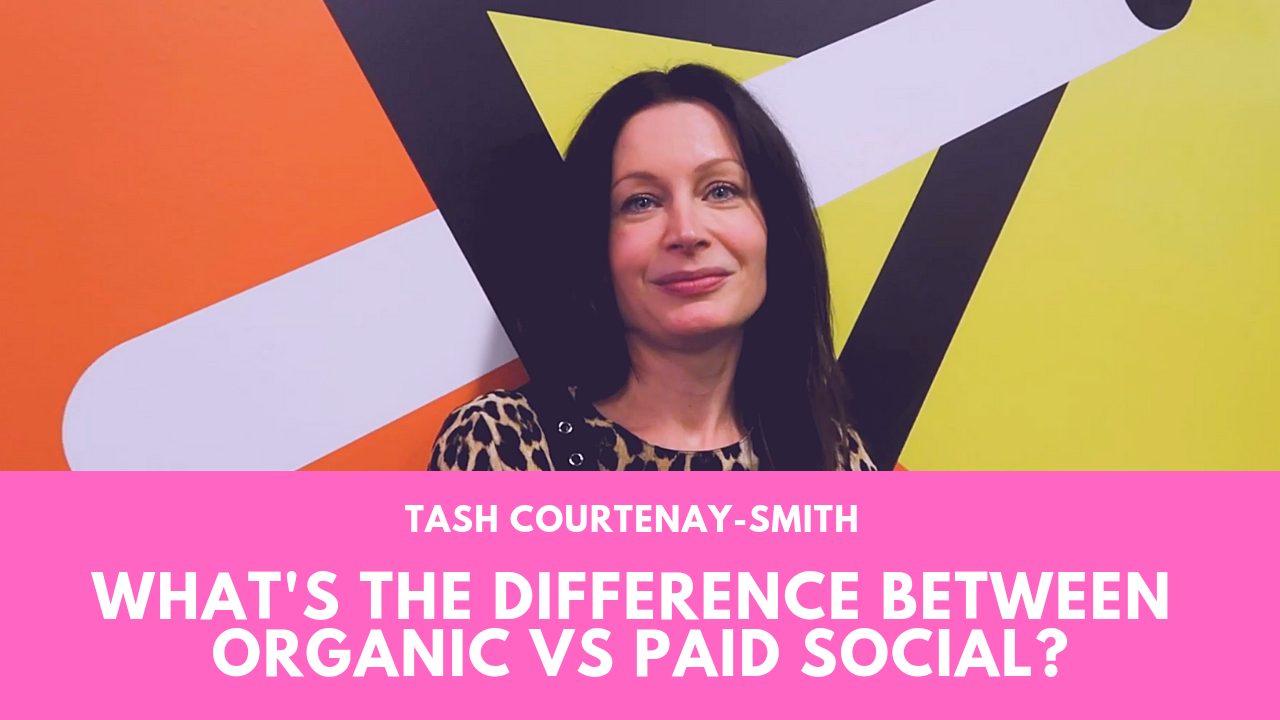 What's the difference between organic vs paid social